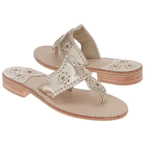 9c826692cf8901 Jack Rogers Shoes - Jack Rogers Jacks Sandal in Platinum